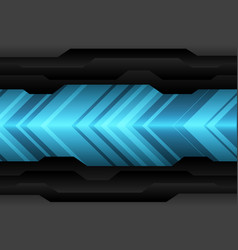 blue arrow light pattern direction on black vector image