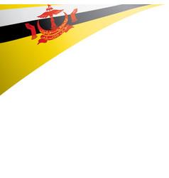 Brunei flag on a white vector