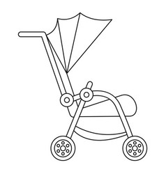Buggy icon outline style vector