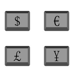 Buttons currency vector image