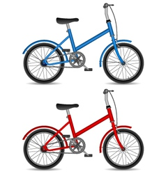 Children bikes vector