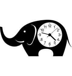 clock elephant sticker vector image