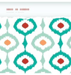 Colorful chain ikat frame horizontal torn seamless vector image