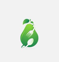 Colorful logo design fruit food vector