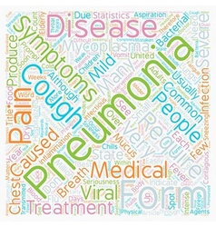 Common Pneumonia Symptoms text background vector