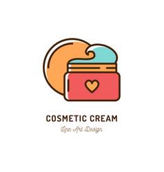 cosmetic cream icon thin line art design vector image
