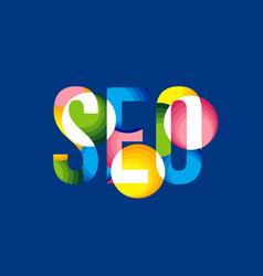 Creative seo search engine vector