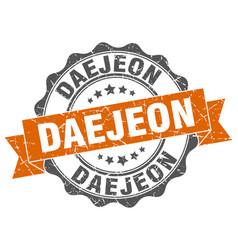 Daejeon round ribbon seal vector