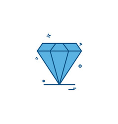 diamond jewel icon design vector image