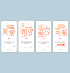 Digital library content onboarding mobile app vector