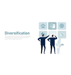 Diversification asset or investment allocation vector