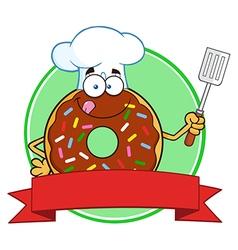 Donut Chef Cartoon vector