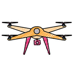 drone technology with camera vector image