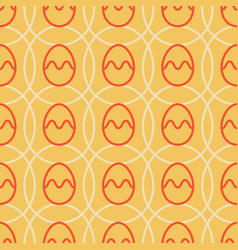 easter egg seamless pattern orange color holiday vector image