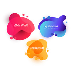 fluid gradient shapes composition set vector image