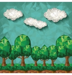 forest landscape design vector image