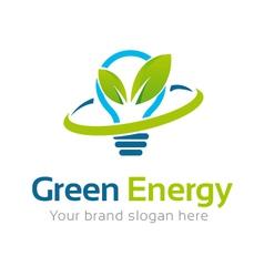Green Energy Logo Template vector image