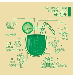 Green juice recipes great detoxify vector