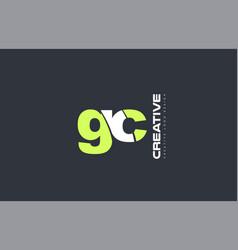 Green letter gc g c combination logo icon company vector