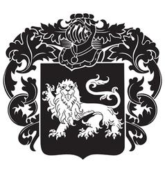 heraldic silhouette no29 vector image