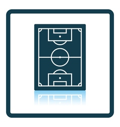Icon of football field vector
