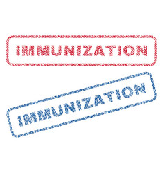 Immunization textile stamps vector