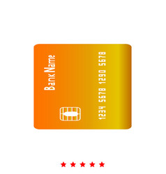 Inserting credit card it is icon vector