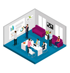 isometric business meeting concept vector image