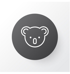 koala icon symbol premium quality isolated vector image