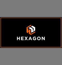 Ku hexagon logo design inspiration vector
