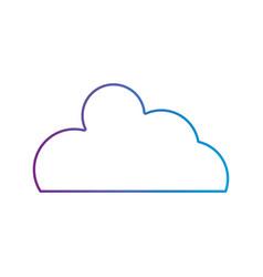 line nice cloud natural weather design vector image
