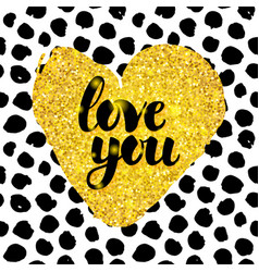 Love you hand drawn design vector