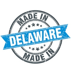 Made in Delaware blue round vintage stamp vector