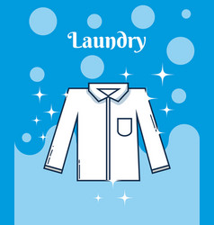 Male shirt laundry concept vector