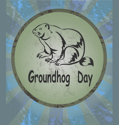 Marmot icon groundhog day vector