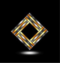 Metallic square business identity vector