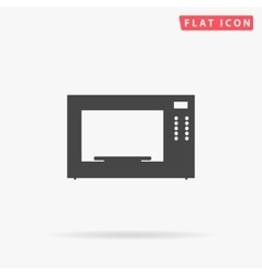 Microwave simple flat icon vector