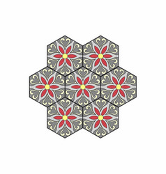 Octagonal tile gray vector