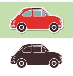 old fashion italian car vector image