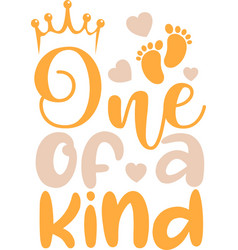 One a kind on white background vector