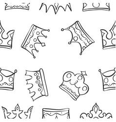 pattern of king queen crown vector image