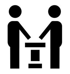 Political debate icon simple style vector