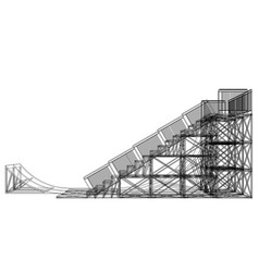 ramp concept outline vector image