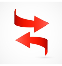 Red Abstract 3d Arrow Icon vector image