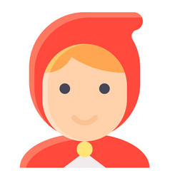 Red riding hood avatar halloween costume vector
