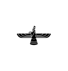 Religion symbol faravahar icon element of vector