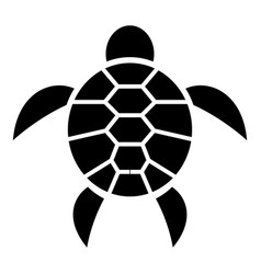 reptile turtle icon simple style vector image