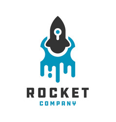 rocket technology logo design your company vector image
