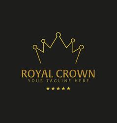 royal crown hotel logo and emblem logo vector image