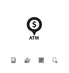 set of 5 editable financial icons includes vector image